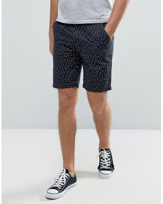 D-Struct | Blue Polka Dot Shorts for Men | Lyst