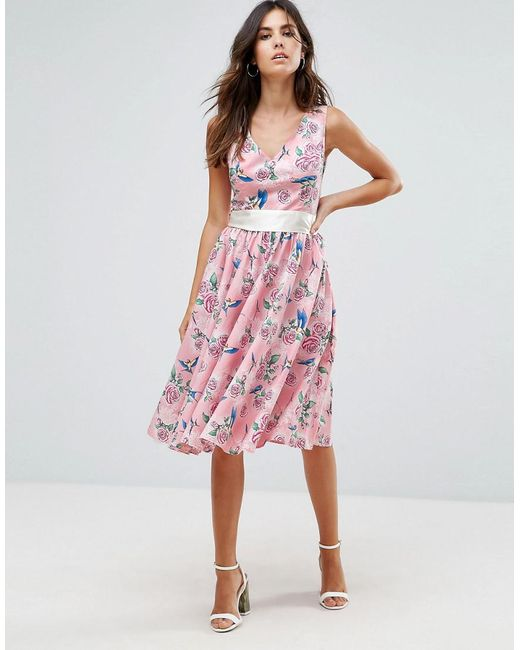50s Floral Skater Dress - Pink Hell Bunny hcEHT4qw7