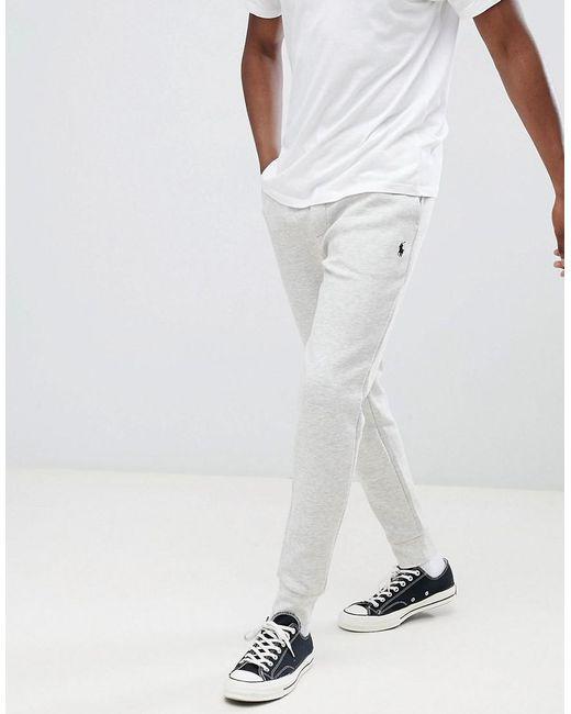d9239ed17d6 Polo Ralph Lauren - Gray Pantalon de jogging resserr aux chevilles coupe  slim avec logo joueur ...