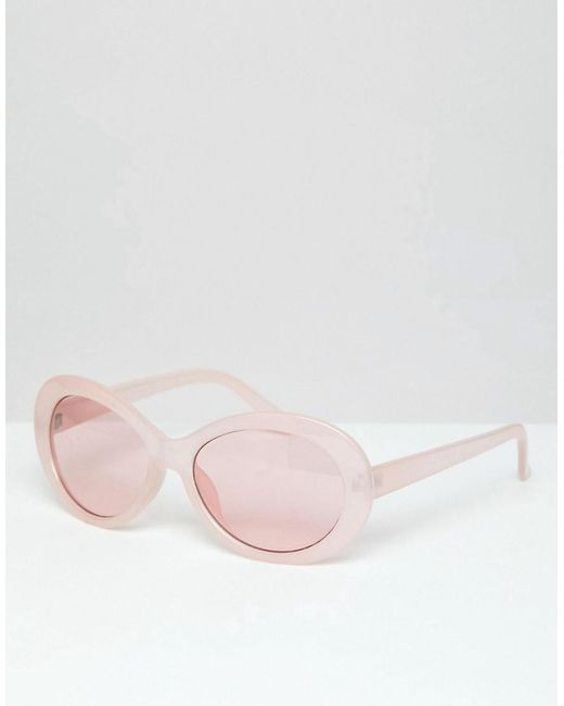 ASOS - Pink Lunettes de soleil ovales avec verres roses for Men - Lyst ... 3f3c456708cc