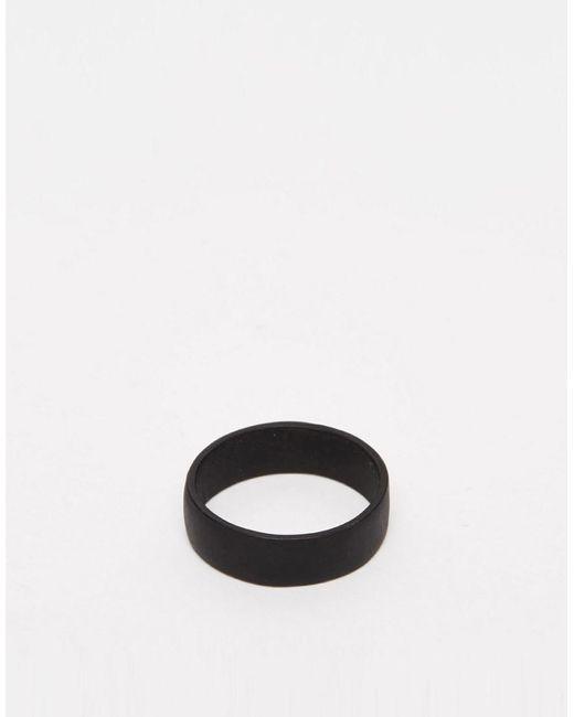 ASOS DESIGN - Plus Ring In Matte Black Finish for Men - Lyst