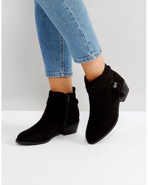 Dune | Black Tassel Petraa Ankle Boots | Lyst