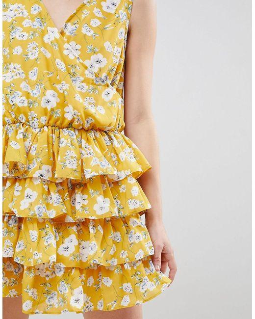 Unique 21 Yellow Floral Dress - Yellow floral Unique21 49B18rdm