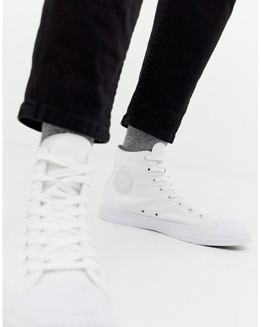 b9cfba272a8d34 Converse - Chuck Taylor All Star Hi Sneakers In White 1u646 for Men - Lyst  ...