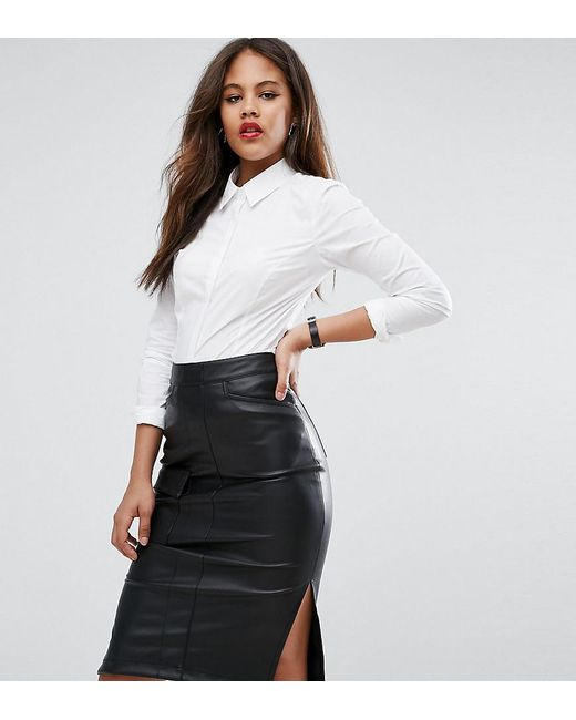 ASOS | White Fuller Bust Shirt In Stretch Cotton | Lyst