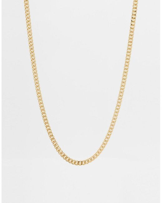 ASOS - Metallic Midweight Chain for Men - Lyst