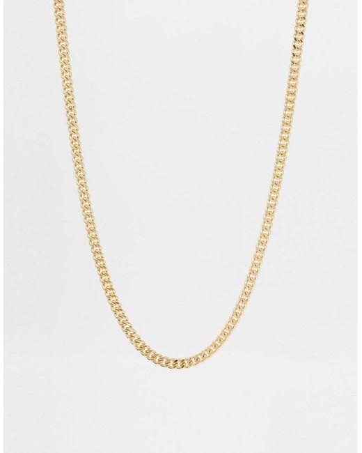 ASOS DESIGN - Metallic Midweight Chain In Gold Tone for Men - Lyst