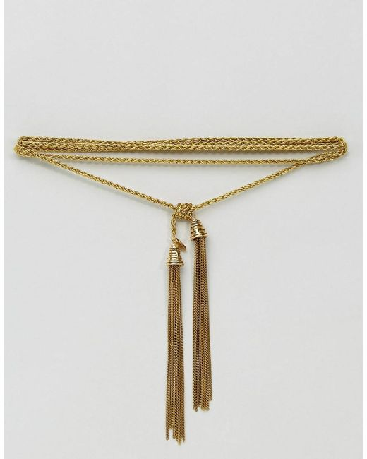 Vanessa Mooney | Metallic Tassel Bolo Necklace | Lyst