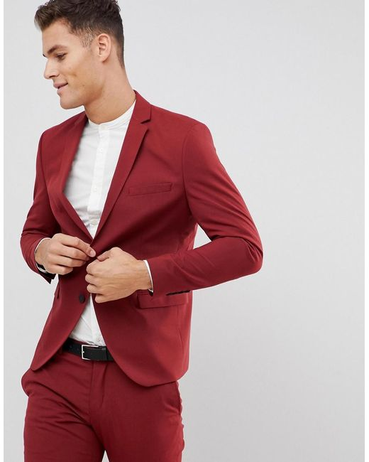 SELECTED - Red Veste de costume slim for Men - Lyst