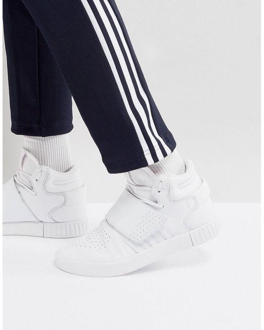 Adidas Originals tubular Correa Unisex formadores en blanco invasor