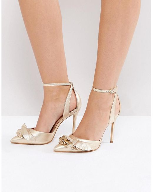 Carvela Kurt Geiger | Metallic Ruffle Heeled Shoes | Lyst