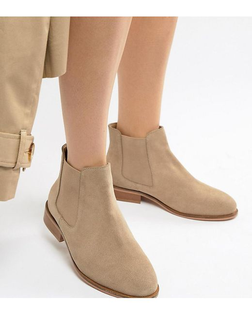 Park Lane - Natural Wide Fit Suede Chelsea Boots - Lyst