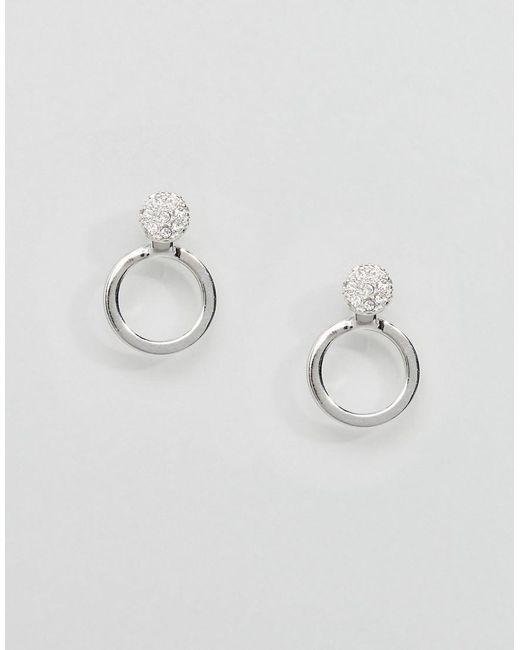 Pilgrim | Metallic Silver Hoop Stud Earrings | Lyst