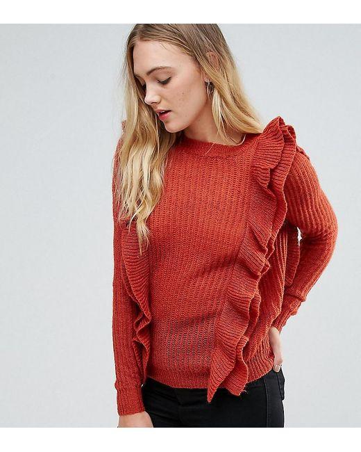 Y.A.S - Orange Oversized Ruffle Sweater - Lyst