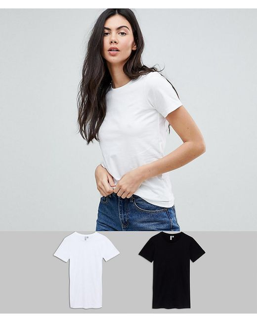 ASOS - Multicolor Asos Design Tall Ultimate Crew Neck T-shirt 2 Pack Save - Lyst