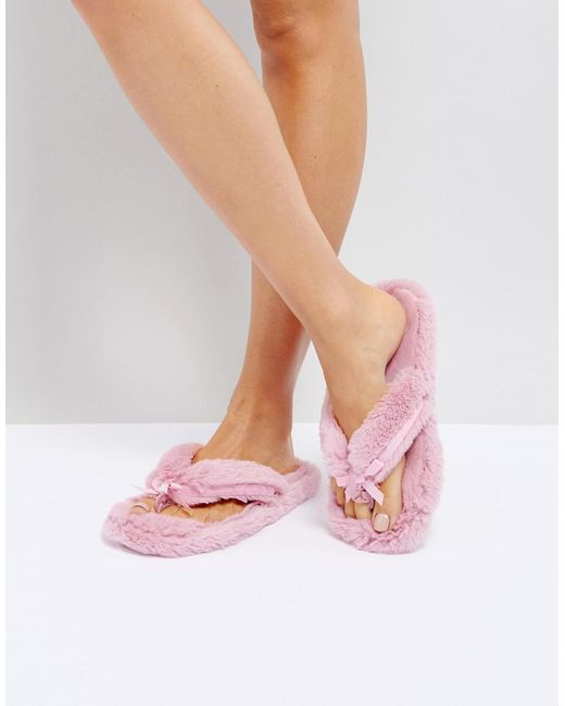 lyst bedroom athletics erica thong slipper in pink