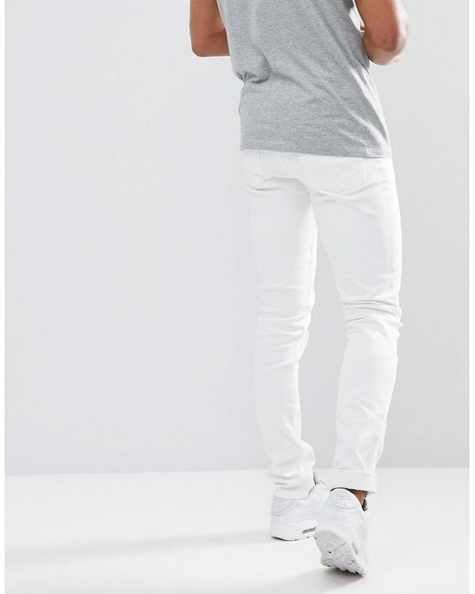 TALL Skinny Jeans In White - White Asos XuuHj