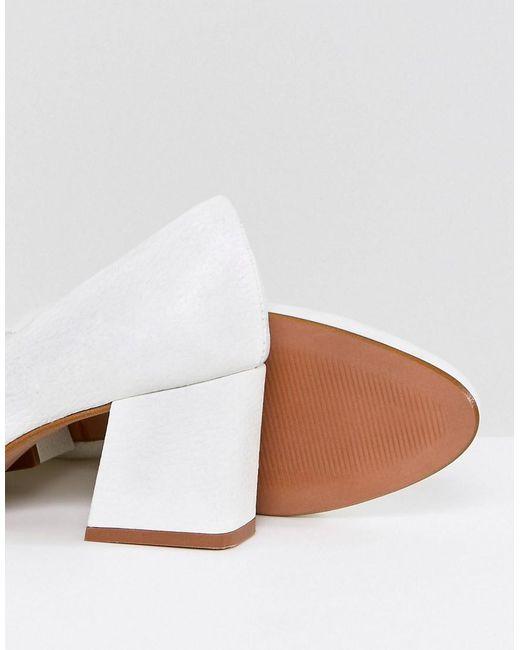 SPEARMINT Leather Heels - White Asos 953hfnZ5Ul
