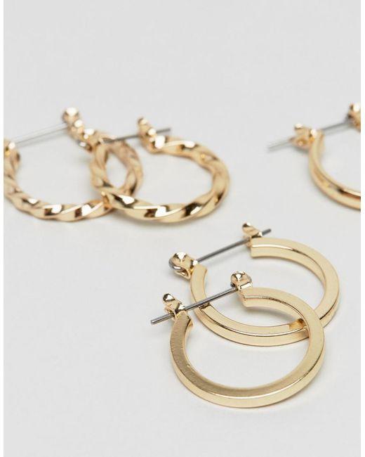 DESIGN Xl Tortoiseshell Hoop Earrings - Gold Asos 5RJMIR3GY