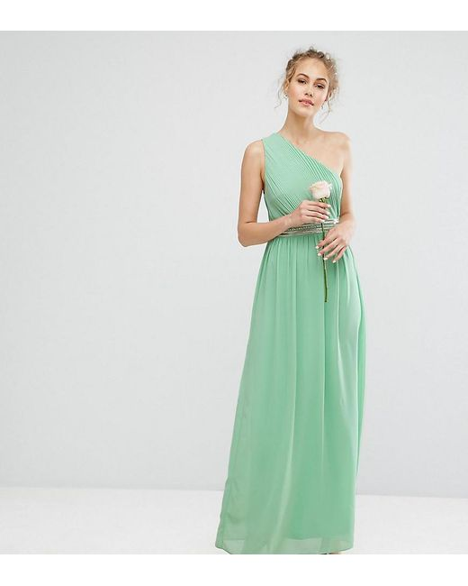 TFNC London | Green Wedding One Shoulder Embellished Maxi Dress | Lyst