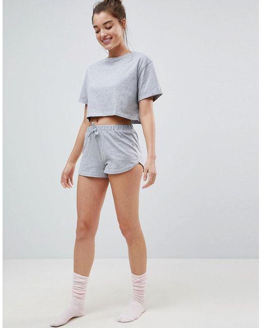 Wiki Cheap Online Shopping Mix & Match Pyjama Short - Grey Asos Free Shipping Fashion Style Real Cheap Online Perfect tklBDy87Ig