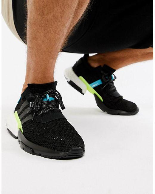Adidas Originals - Black Zapatillas de deporte negras POD-S3.1 AQ1059 de  for ... c36a9b72f3f9