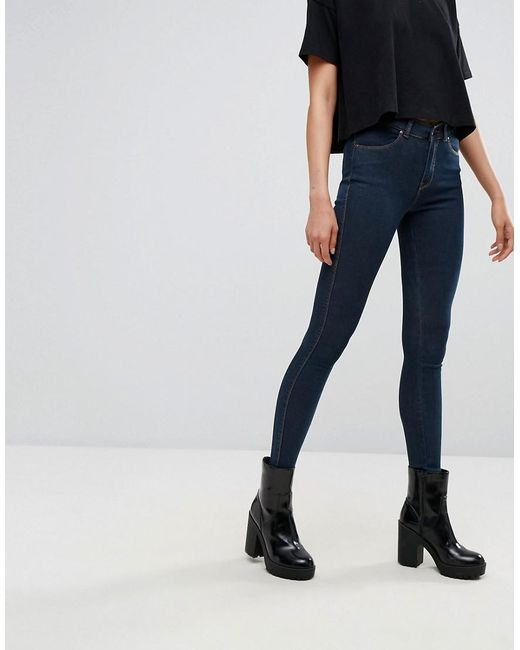 Dr. Denim - Blue Lexy Mid Rise Second Skin Super Skinny Jeans - Lyst