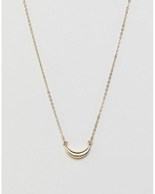 Pieces - Metallic Mini Horn Necklace - Lyst