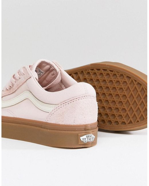 Old Skool Pastel Orange Trainers With Gum Sole - Pastel orange Vans mCNdo