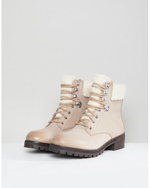 ALDOULELADDA - Lace-up boots - taupe P0V1F2Lld