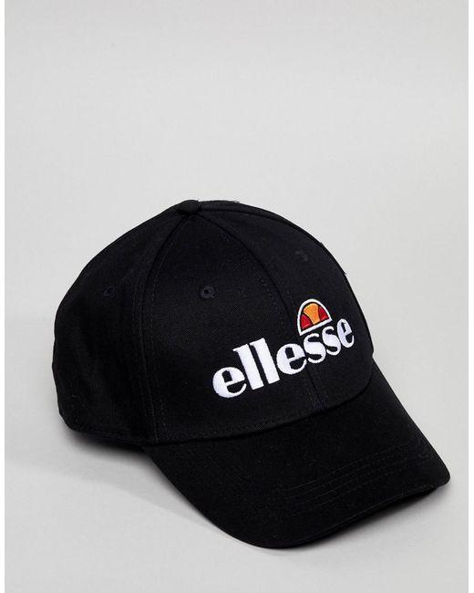 Volo Baseball Cap With Small Logo In Black - Black Ellesse oSMtVvh6Yl
