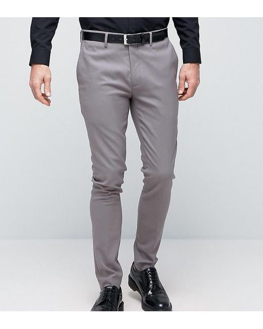 Only & Sons | Gray Super Skinny Smart Trousers for Men | Lyst