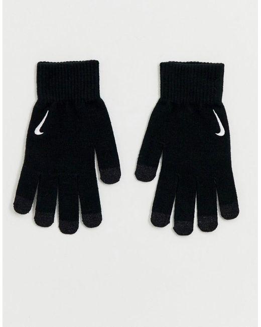 Nike - Black Gants techniques en maille - Noir for Men - Lyst