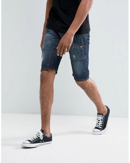Threadbare | Blue Cropped Denim Shorts for Men | Lyst