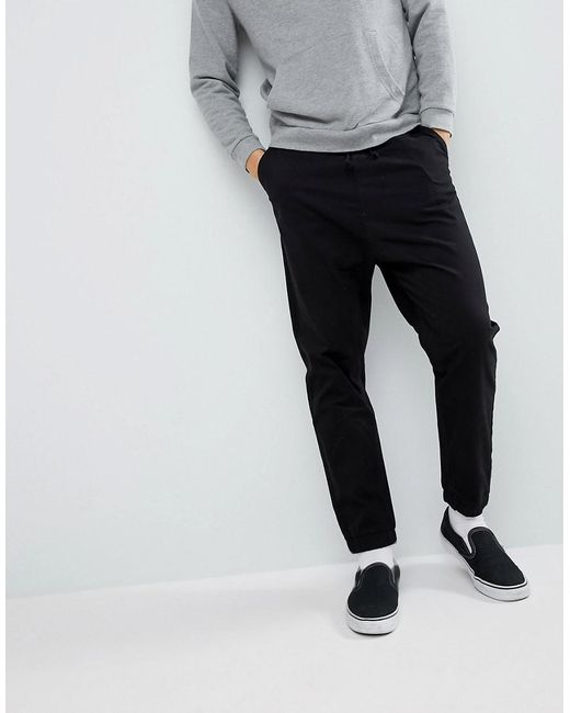 ASOS - Drop Crotch Woven Joggers In Black for Men - Lyst
