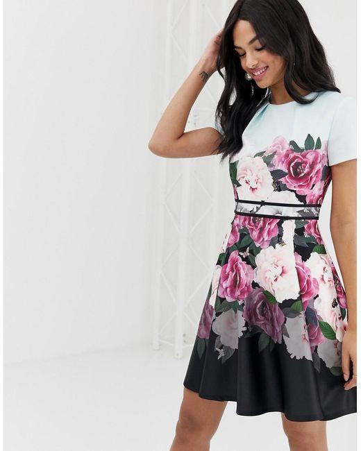 59b800431cd9 Ted Baker - Multicolor Magnificent Skater Dress - Lyst ...