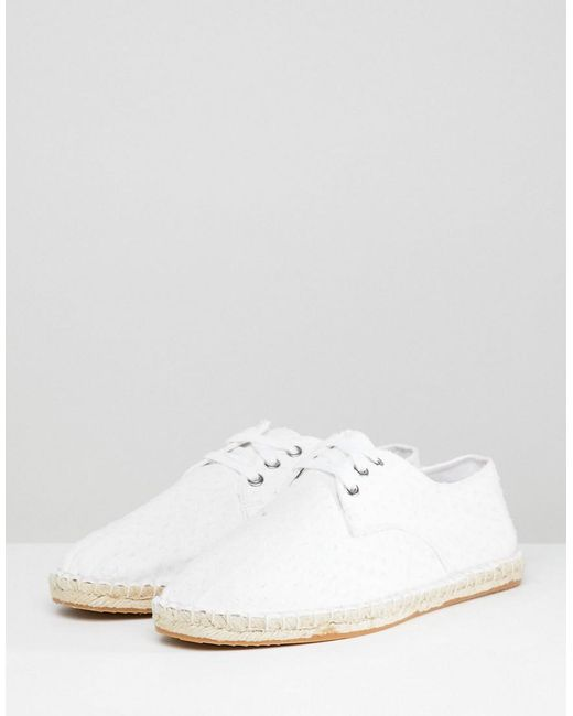 DESIGN Espadrilles In White With Texture - White Asos n8txR