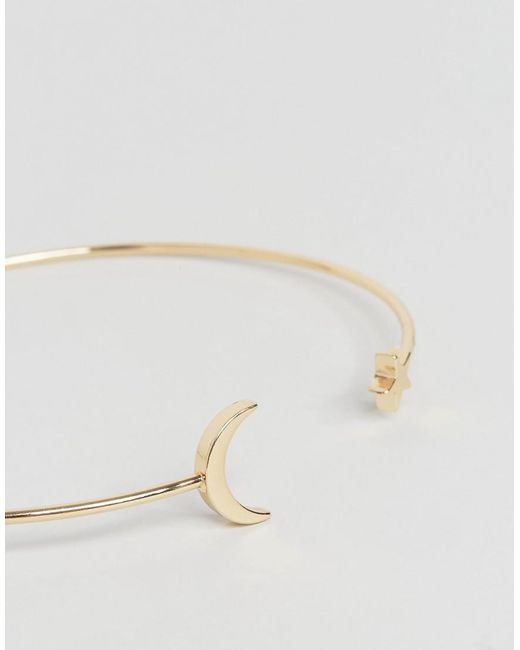 Asos Curve ASOS DESIGN Curve Moon and Star Arm Cuff - Gold wRDoS1EV