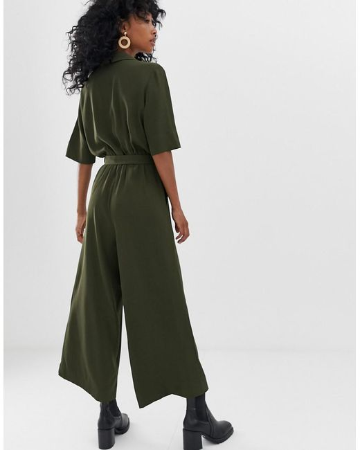 86384088a06b Weekday Tailored Jumpsuit In Khaki Green in Green - Lyst