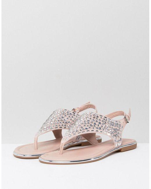 ALDO ORIETTA - T-bar sandals - silver