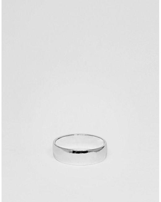 ASOS - Metallic Ring In Silver Tone for Men - Lyst