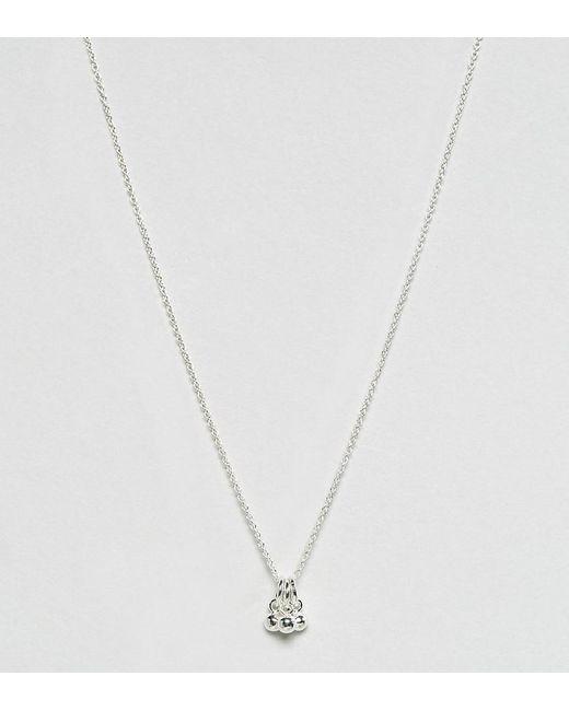 ASOS   Metallic Sterling Silver Triple Balls Necklace   Lyst