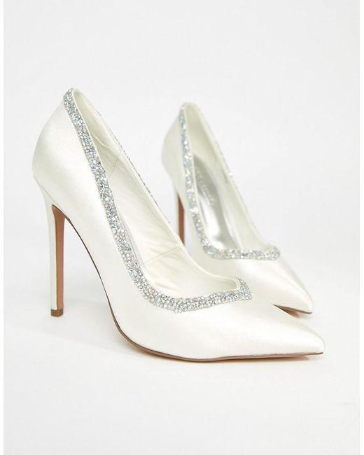 ASOS DESIGN - White Asos Phoenix Bridal High Heels - Lyst