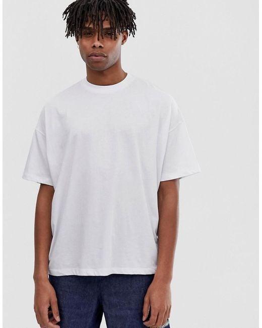 0c408c6aa ... ASOS - White Oversized T-shirt With Snake Back Print for Men - Lyst