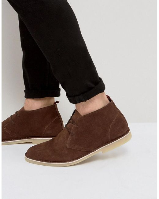 KG by Kurt Geiger - Kg By Kurt Geiger Maltby Desert Boots Brown Suede for  Men ...