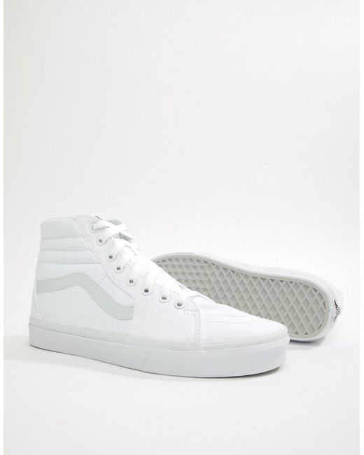 322763be57 Vans Sk8-hi Trainers In White Vn000d5iw001 in White for Men - Lyst