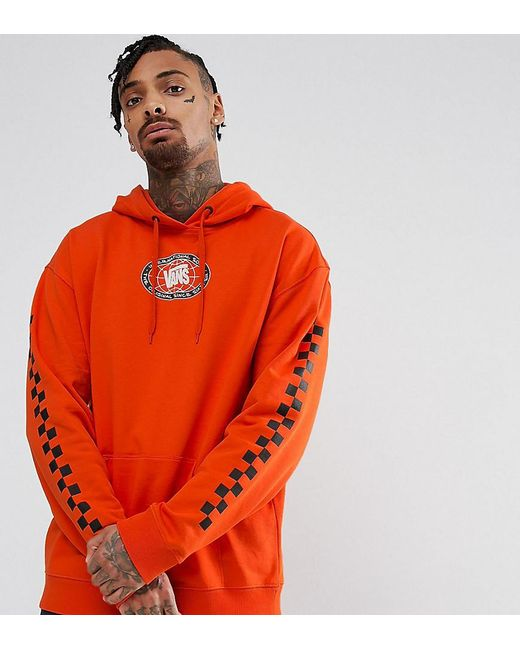 Vans - Sole Pullover Hoodie With Arm Print In Orange Exclusive To Asos for Men - Lyst