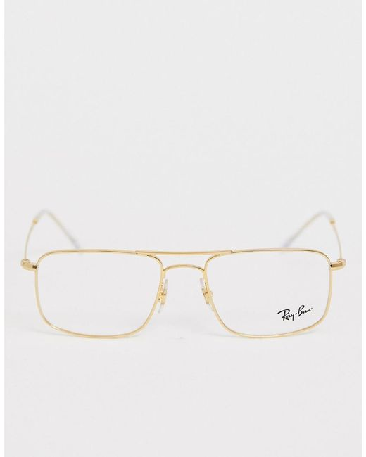 44d03ffb3 ... Ray-Ban - Metallic 0rx6434 Square Aviator Glasses With Demo Lenses for  Men - Lyst