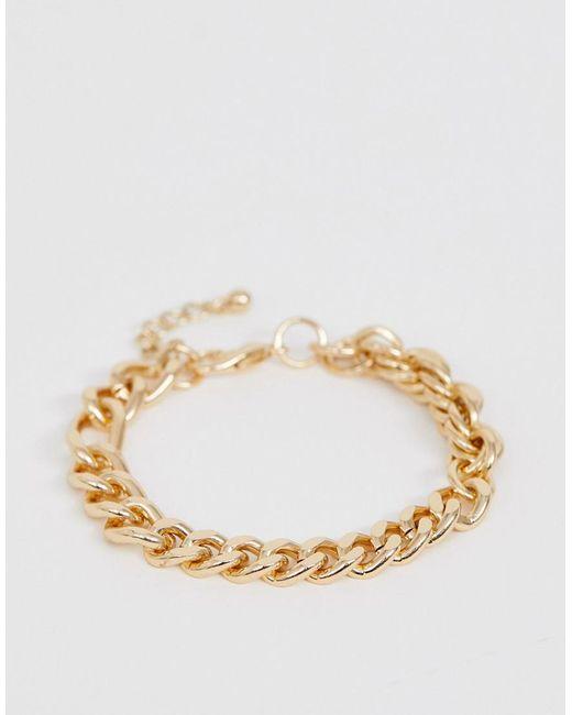 ASOS - Metallic Mixed Chain Bracelet In Gold Tone for Men - Lyst