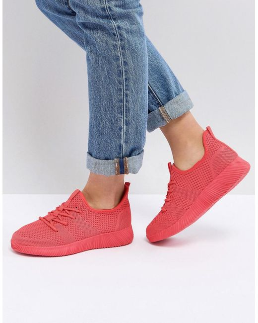 ASOS - Pink Asos Dedicate Knitted Trainers - Lyst